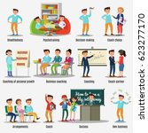 coaching characters set with...   Shutterstock .eps vector #623277170