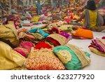 sari shop. indian traditional...   Shutterstock . vector #623277920