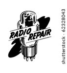 radio repair 1   ad header  ... | Shutterstock .eps vector #62328043