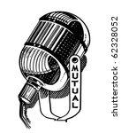 radio microphone   retro...