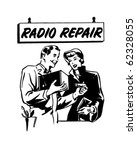 radio repair 2   ad header  ... | Shutterstock .eps vector #62328055