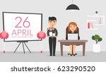 office room on april  26. male... | Shutterstock .eps vector #623290520