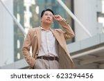 successful businessman looking... | Shutterstock . vector #623294456