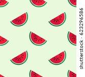 tiled seamless pattern of sweet ... | Shutterstock .eps vector #623296586