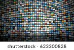 wall of images | Shutterstock . vector #623300828