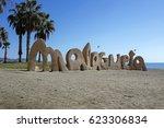 malagueta  most popular beach...   Shutterstock . vector #623306834