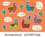 collection of stickers with... | Shutterstock .eps vector #623307266