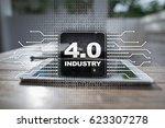 industry 4.0. iot. internet of... | Shutterstock . vector #623307278