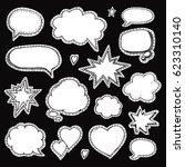 hand drawn set of speech... | Shutterstock .eps vector #623310140