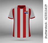football kit of paraguay with... | Shutterstock .eps vector #623311619
