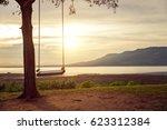 children swing in the park ... | Shutterstock . vector #623312384