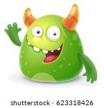 Green Cartoon Monster