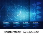 2d illustration technology... | Shutterstock . vector #623323820