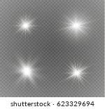 glow light effect. star burst...   Shutterstock .eps vector #623329694