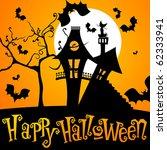 vector cute halloween... | Shutterstock .eps vector #62333941