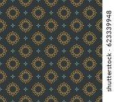 monogram seamless vector... | Shutterstock .eps vector #623339948