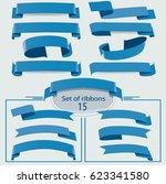 vector ribbons banners. ... | Shutterstock .eps vector #623341580