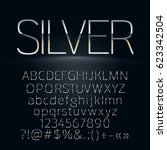 vector set of slim silver... | Shutterstock .eps vector #623342504
