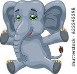 cute elephant cartoon.  | Shutterstock . vector #623343398