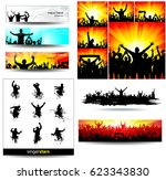 backgrounds and icons of... | Shutterstock .eps vector #623343830