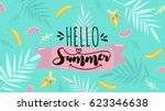 Hello Summer Banner. Trendy...
