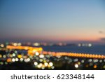 night city street lights bokeh... | Shutterstock . vector #623348144