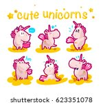 vector collection of flat funny ... | Shutterstock .eps vector #623351078