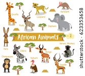 African Animals Cartoon On...