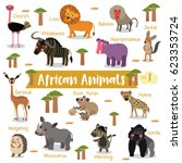 african creature cartoon on... | Shutterstock .eps vector #623353724