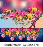 trendy realistic vector... | Shutterstock .eps vector #623356478
