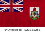 bermuda flag on grunge wooden... | Shutterstock . vector #623366258