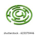 3d Illustration Of Green Round...