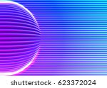 neon lines background with... | Shutterstock .eps vector #623372024
