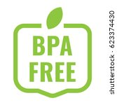 bpa free badge  logo  icon.... | Shutterstock .eps vector #623374430