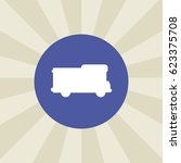 van car icon. sign design....