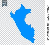 transparent   high detailed map ... | Shutterstock .eps vector #623379824