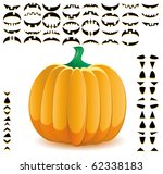 halloween pumpkin with big set... | Shutterstock .eps vector #62338183