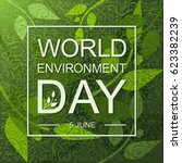 world environment day card or... | Shutterstock .eps vector #623382239