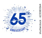 65th anniversary logo with... | Shutterstock .eps vector #623383364