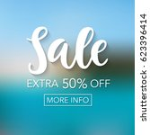 sale mobile banner template for ... | Shutterstock .eps vector #623396414