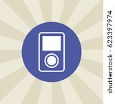 mp3 player icon. sign design....