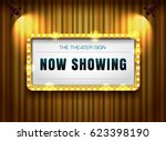 theater sign gold frame on... | Shutterstock .eps vector #623398190