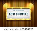 theater sign gold frame on... | Shutterstock .eps vector #623398190