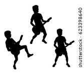 vector silhouettes of teenagers ... | Shutterstock .eps vector #623398640