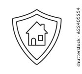 real estate security linear... | Shutterstock .eps vector #623405354