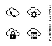 cloud settings. simple related... | Shutterstock .eps vector #623409614