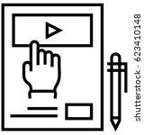 blended learning vector icon | Shutterstock .eps vector #623410148