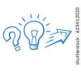 experiment symbol vector ... | Shutterstock .eps vector #623412020