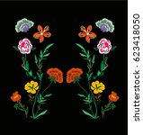 patch flowers embroidery for... | Shutterstock .eps vector #623418050