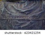 the back of the denim vest | Shutterstock . vector #623421254